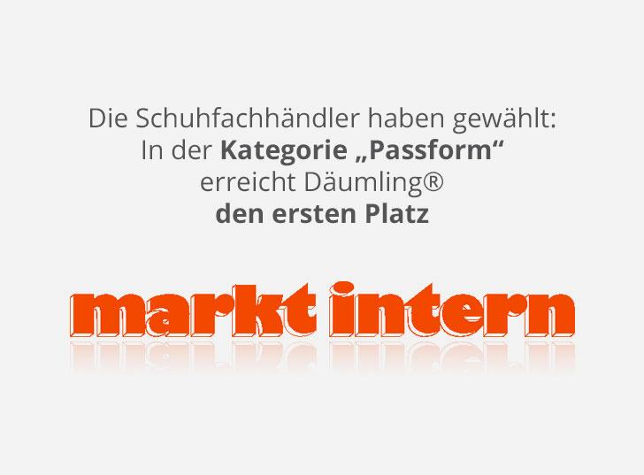 Markt Intern: Kategorie Passform Platz 1 Kinderschuhe